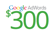 Get $300 AdWords Credit