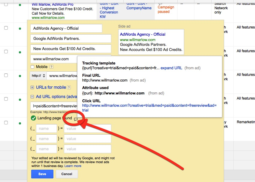 How To Find a Click URL Final URL