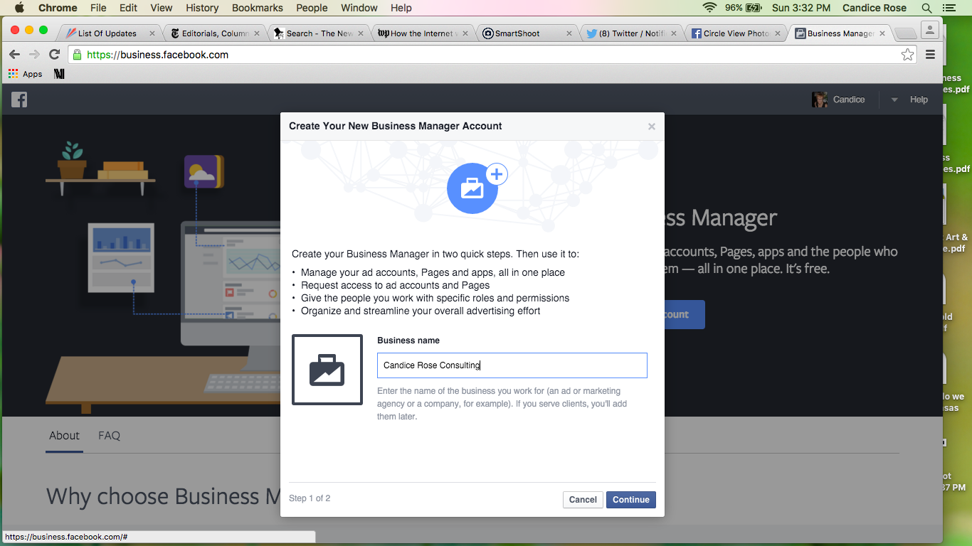Facebook Business Manager Step 2