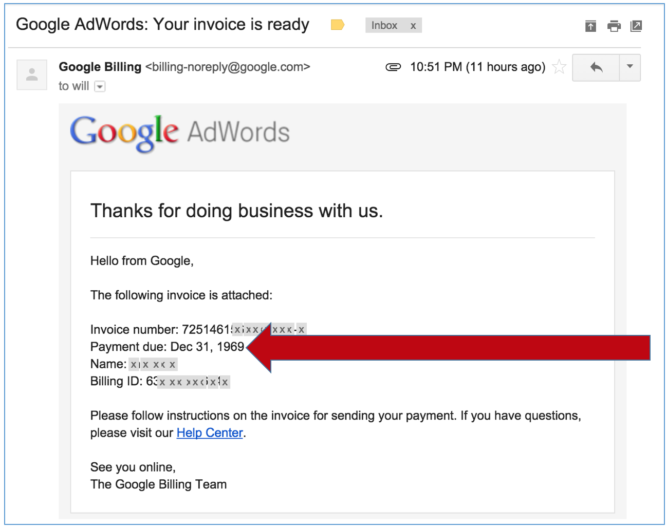 a minor bug in google adwords will marlow agency