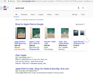 Google Shopping Ad Examples